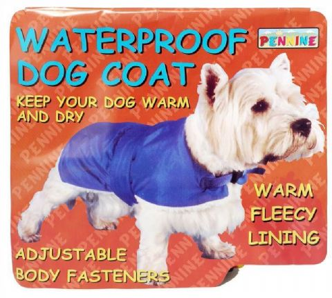 "Pennine Waterproof Fur Lined Dog Coat Blue 71cm (28"")"